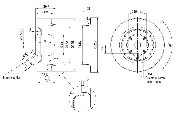 ventilateur centrifuges  u00e0 r u00e9action ebmpapst r4e225