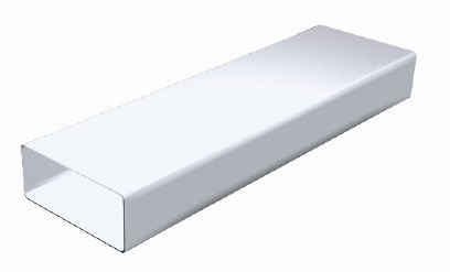 1 5 m de gaine rectangulaire en pvc blanc 150 x 70mm ct157b - Gaine hotte aspirante 150 ...