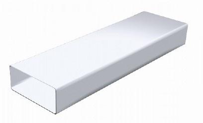 1 5 m de gaine rectangulaire en pvc blanc 220 x 90mm ct229b. Black Bedroom Furniture Sets. Home Design Ideas