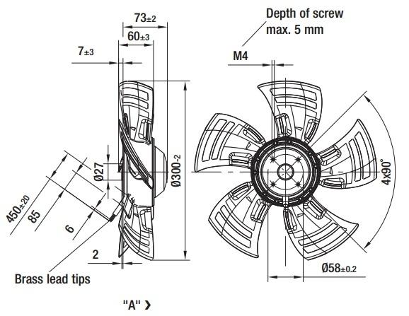 ventilateur axial compact ebmpapst a4e300