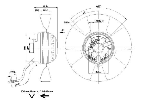 ventilateur axial diam u00e8tre 200mm ebmpapst a2e200