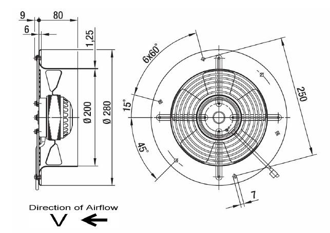 ventilateur axial ebmpapst w2e200