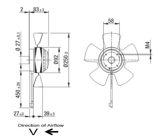 ventilateur axial ebmpapst a2e250