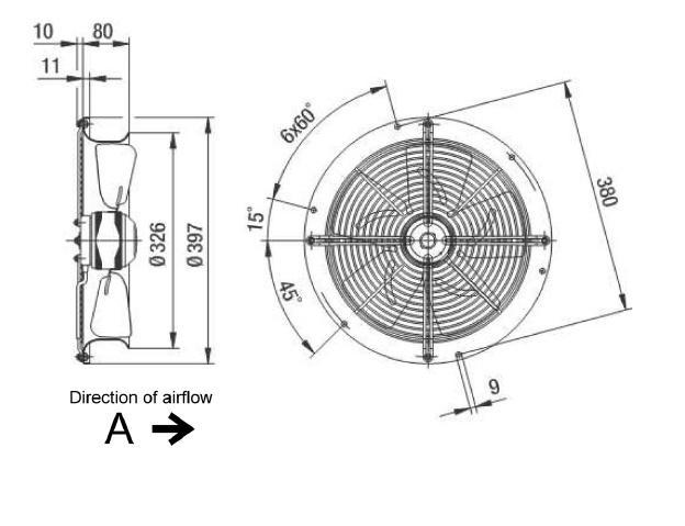 ventilateur axial ebmpapst w2e300