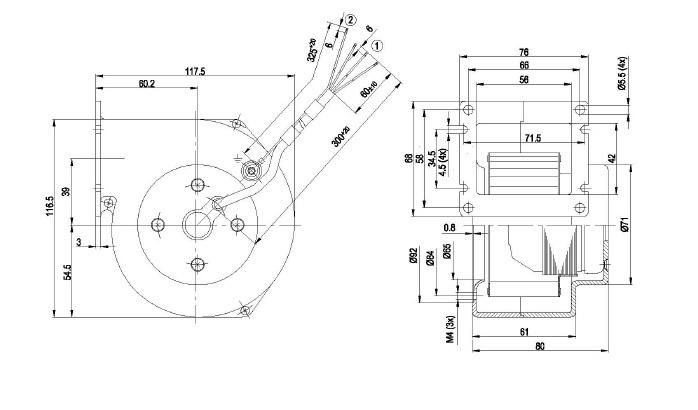 ventilateur radial simple ou u00efe ebmpapst g2e085