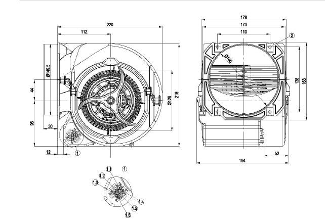 ventilateur centrifuge double ou u00efe ebmpapst d2e146