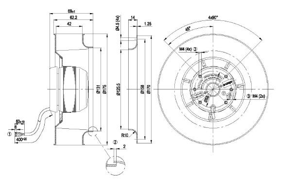 ventilateur centrifuges  u00e0 r u00e9action ebmpapst r2s175