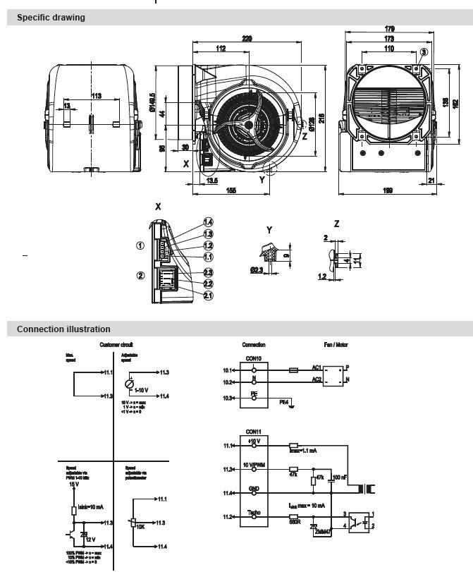 ventilateur centrifuge double ou u00efe ebmpapst d3g146