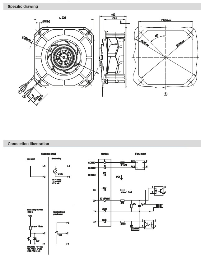 ventilateur centrifuge simple ou u00efe ec ebmpapst k3g190